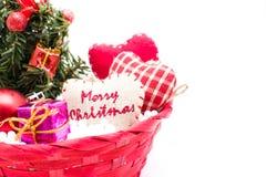 圣诞树和圣诞节装饰 库存图片