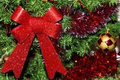 圣诞树和圣诞节装饰 免版税库存照片