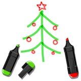 圣诞树和标志 库存图片