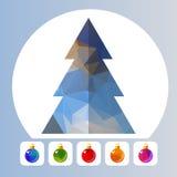 圣诞树和球 向量例证