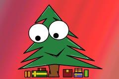 圣诞树和礼品 库存照片