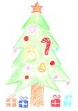 圣诞树和礼品 免版税库存图片