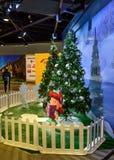 圣诞树和装饰在吉隆坡国际机场2, KLIA2中 免版税图库摄影