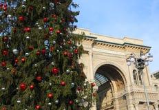 圣诞树和画廊致力意大利胜者的国王 库存图片