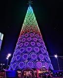 圣诞树在利物浦 库存照片