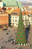 圣诞树在华沙 库存照片