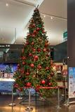 圣诞树在吉隆坡国际机场2, KLIA2中 免版税库存图片
