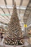 圣诞树在机场 免版税库存照片