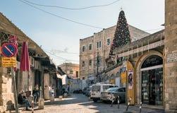 圣诞树在耶路撒冷 免版税图库摄影