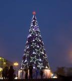 圣诞树在莫斯科 免版税库存照片