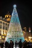 圣诞树在都灵,意大利 免版税图库摄影