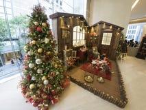 圣诞树在香港 免版税库存图片