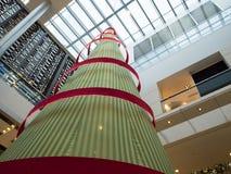 圣诞树在香港 免版税库存照片