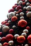 圣诞树场面 免版税库存图片