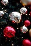 圣诞树场面 图库摄影