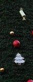圣诞树垂直背景 库存图片