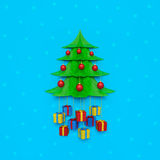圣诞树墙壁背景 图库摄影