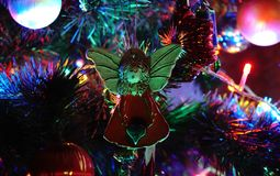 圣诞树天使 免版税图库摄影