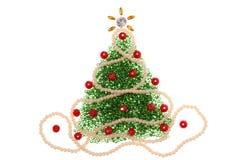 圣诞树小珠 库存图片