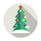 圣诞树平的象 向量例证