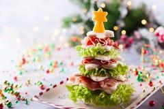 圣诞树开胃菜 库存照片