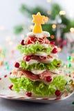 圣诞树开胃菜 免版税库存照片