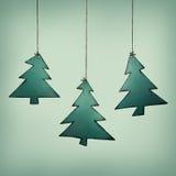 圣诞树拖车 库存例证