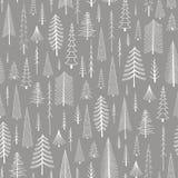 圣诞树无缝的模式 免版税库存照片