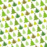 圣诞树无缝的模式 库存图片