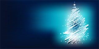 圣诞树明亮的梯度背景 库存图片