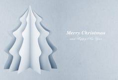 圣诞树明信片 库存照片