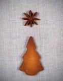 圣诞树曲奇饼 图库摄影