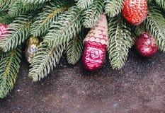 圣诞树杉木分支 免版税库存图片