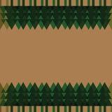 圣诞树框架背景 库存图片