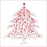 圣诞树模式 库存例证