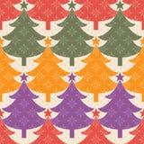 圣诞树模式 免版税库存照片
