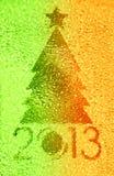 圣诞树水晶背景 免版税库存图片