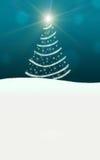 圣诞树点燃闪耀星的闪电 皇族释放例证