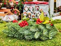 圣诞树片断  库存图片