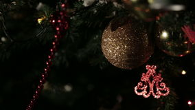 圣诞树玩具 股票视频