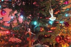 圣诞树玩具 免版税库存照片