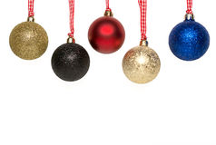 圣诞树球垂悬 库存照片
