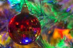 圣诞树球装饰品 库存图片
