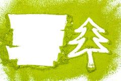 圣诞树用搽粉的绿茶 免版税库存照片
