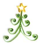 圣诞树由纸制成 免版税库存照片