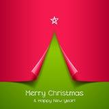 圣诞树由纸张制成 图库摄影