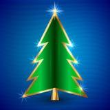 圣诞树的传染媒介例证 免版税库存图片