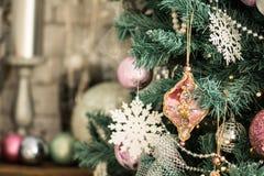 圣诞树的片段 图库摄影