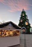 圣诞树的看法在维尔纽斯 免版税库存照片