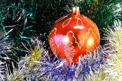 圣诞树的美丽的装饰 免版税库存图片